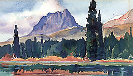 <i>Rocky Mountain High 1947</i><br>Watercolour by Peter Ewart