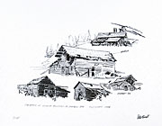 Oldest building in the Cariboo sketch by peter Ewart