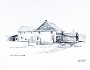 105-Mile House sketch by peter Ewart