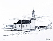 Indian Church, Bonaparte Valley sketch by peter Ewart