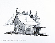 St. Saviour's Church sketch by peter Ewart