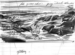 Seascape Study sketch by peter Ewart