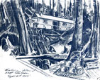 Spider Island Base sketch by peter Ewart